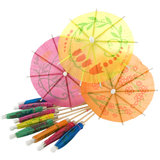Cocktail Party Multicolour Paper Parasol (12 Pack)