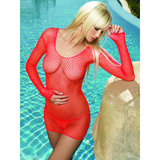 Leg Avenue Fishnet Long Sleeved Dress Set