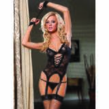 Seven Til Midnight Midnight Affair Lace Cami Handcuffs and Thong Set
