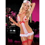 Seven Til Midnight Sexy Nurse Feel Good Crotchless Teddy