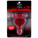 Death By Orgasm Fang Banger Vibrating Vampire Cock Ring
