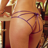 Dreamgirl Best Asset Open Back Stretch Satin Panties