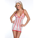 Coquette Kissable Mesh Nurse Dress Set