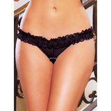 Hustler Ultra Sexy Crotchless Thong with Flirty Ruffles