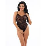 Classified Lace and Mesh Teddy Thong