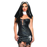 Leg Avenue Saintly Sinner Nun Costume