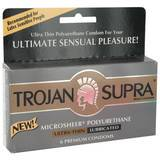 Trojan Supra Non Latex Polyethylene Condoms (6 Pack)