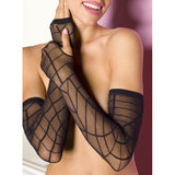 Music Legs Long and Sheer Spider Web Gloves
