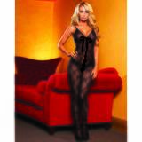 Hustler Lace Up Crotchless Bodystocking