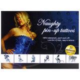 Adult Body Art Naughty Pin-Up Temporary Tattoos