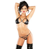 Lust Enchantress Wet-Look Bra and Knicker Set
