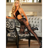 Hustler V-Neck Crotchless Lace Bodystocking