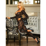 Hustler Long Sleeved Crotchless Lace Bodystocking