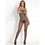 Rene Rofe Quarter Crochet Net Bodystocking