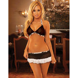 Hustler French Maid Mini Skirt and Bra Set