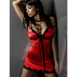 Livia Corsetti Luna Satin and Lace Babydoll and Thong Set
