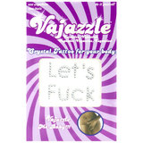 Vajazzle Let's Fuck Body Tattoo