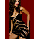 Music Legs Stretch Spiral Weave Mini Dress with Bias Cut