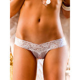 Baci Lingerie Crotchless Lace Knickers with Satin Bow