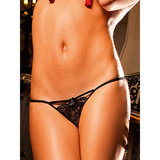 Baci Lingerie Lace G-String with Diamante Bow