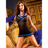 Baci Lingerie Sheer Chemise with Lace Trim