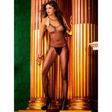Baci Lingerie Crotchless Fishnet Halter Bodystocking