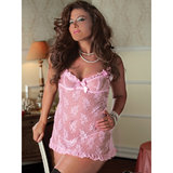 Seven Til Midnight Plus Size Eye Candy Lace Babydoll Set