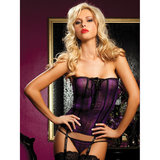 Seven Til Midnight Snakeprint Mesh Strapless Camisole and Thong Set