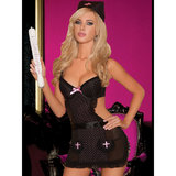 Seven Til Midnight 3-Piece Polka Dot Nurse Lingerie Set