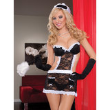 Seven Til Midnight 3-Piece Fantasy Maid Uniform Set