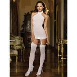 Dreamgirl Black Diamond All-In-One Sheer Dress and Stockings Set