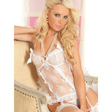 Seven Til Midnight Eye Candy Lace and Mesh Basque Set