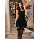 Dreamgirl Ruffle Corset with Matching Tutu and Stockings