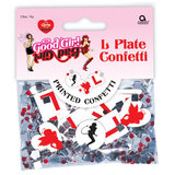 Good Girl and Bad Girl L Plate Confetti