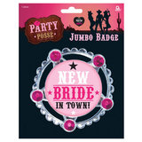 New Bride in Town Jumbo Star Badge