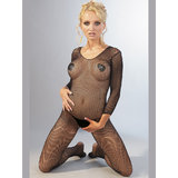 Mandy Mystery Crotchless Fishnet Catsuit