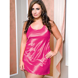 iCollection Plus Size Satin Nightdress