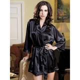 iCollection Satin Kimono-Style Dressing Gown