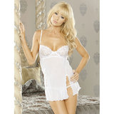 Fantasy Embroidered See Through Babydoll and G-String Set