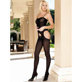 Leg Avenue Opaque Suspender Bodystocking
