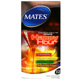 Mates Happy Hour Flavoured Condoms (12 Pack)