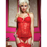 Seven Til Midnight Some Like It Hot Bustier Top and Thong Set