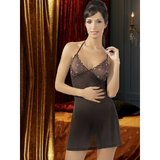 Cottelli Sheer See Through Embroidered Babydoll