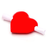 Heart-Shaped Message Magnet
