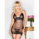 iCollection See Through Polka Dot Lace Chemise