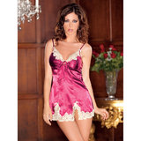 iCollection Satin and Antique Lace Chemise