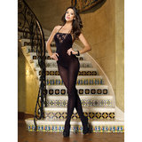 Dreamgirl Palermo Lace Halter Neck Crotchless Bodystocking