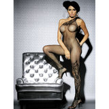 Obsessive One Shoulder Floral Fishnet Bodystocking