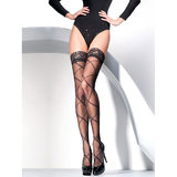 Gabriella Criss-Cross Pattern Hold Up Stockings