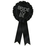 Bride To Be Black Diamante Rosette